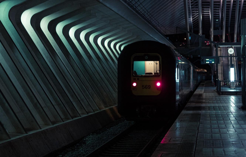 Photo wallpaper metro, train, subway