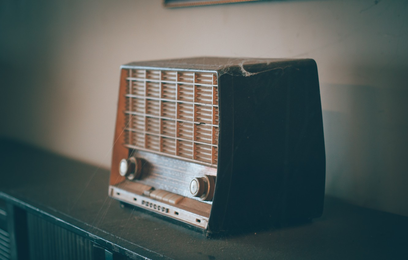 Photo wallpaper Retro, Room, Interior, Radio, Old radio