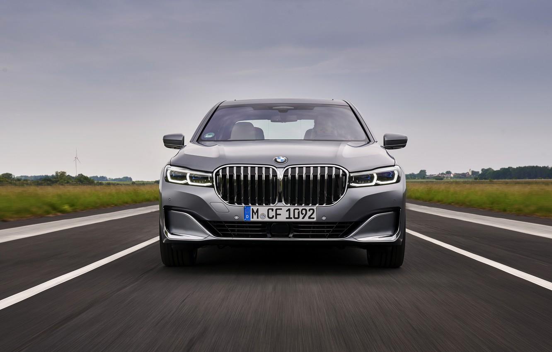 Photo wallpaper BMW, grille, sedan, four-door, G12, G11, 2020, 7, 7-series, 2019, full-size