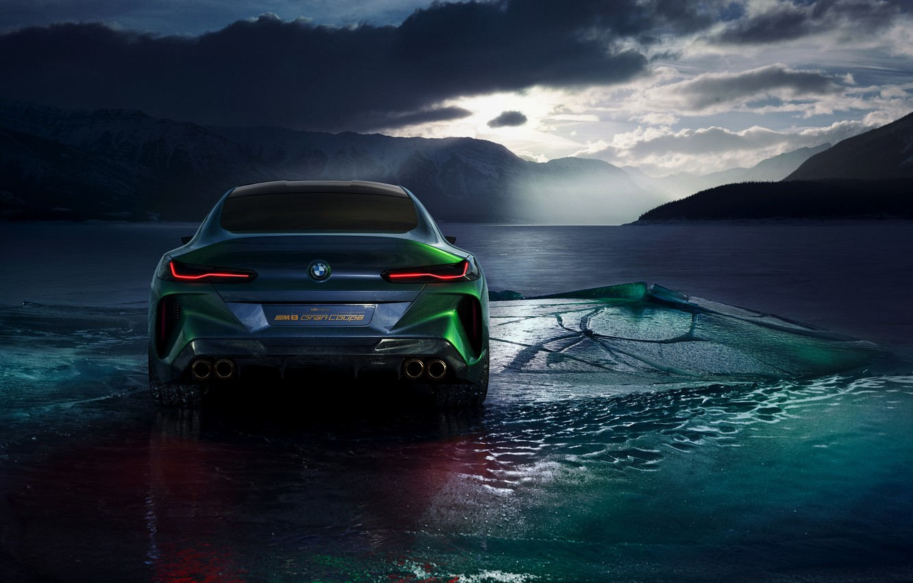 Photo wallpaper cold, coupe, ice, BMW, 2018, feed, M8 Gran Coupe Concept