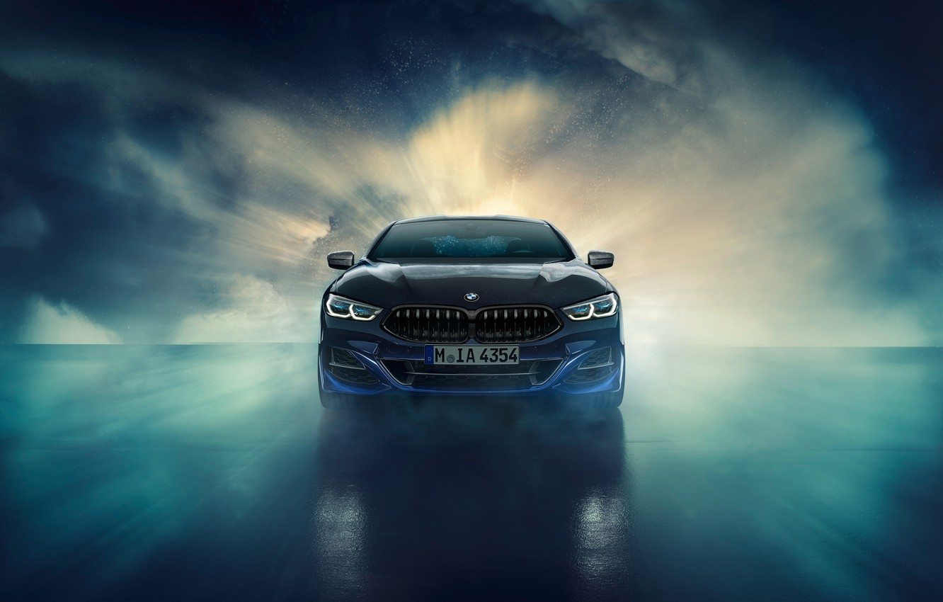 Photo wallpaper BMW, front view, Coupe, Night Sky, Individual, 8-Series, 2019, M850i, XDrive, Night Sky Edition