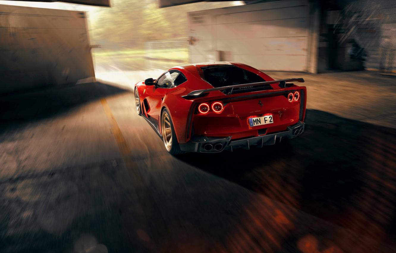 Photo wallpaper Ferrari, sports car, Superfast, 812, Novitec N-Largo