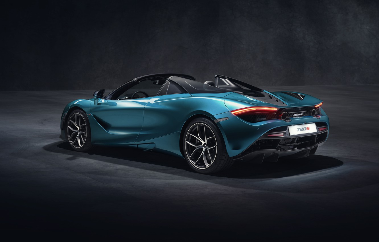Photo wallpaper McLaren, rear view, Spider, 720S, 2019