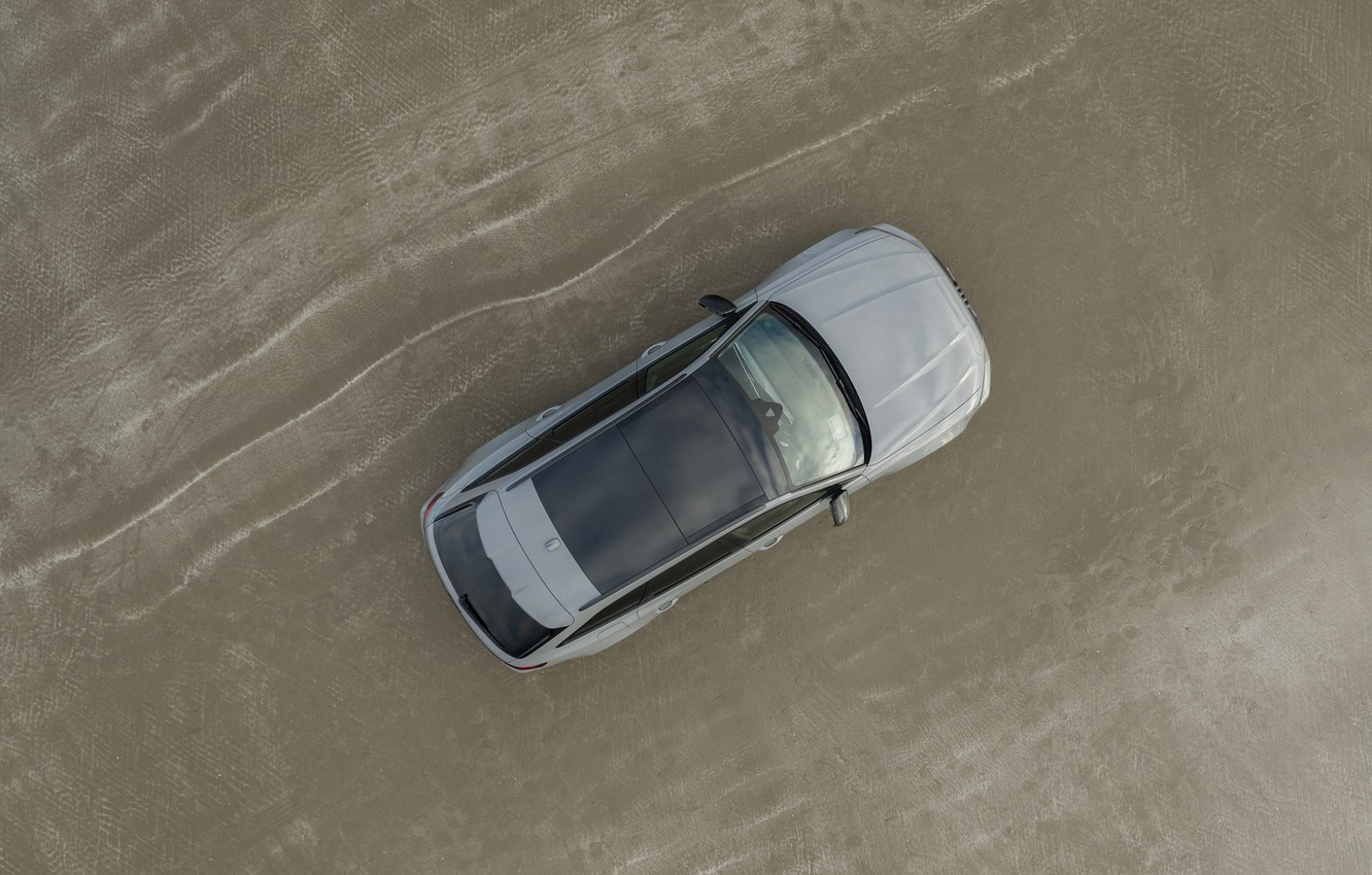 Photo wallpaper sand, Audi, shore, the view from the top, universal, RS 6, 2020, 2019, V8 Twin-Turbo, …