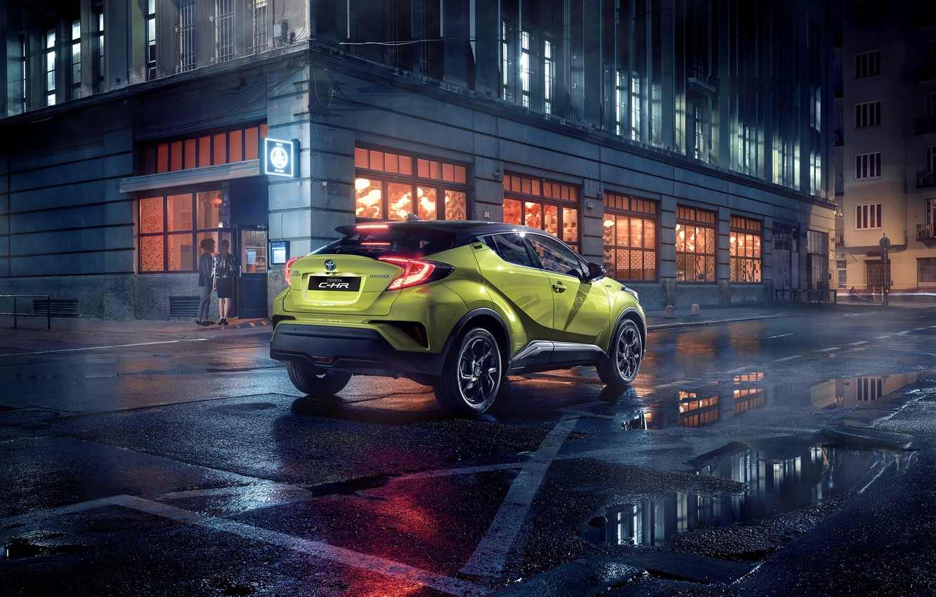Photo wallpaper Toyota, C-HR, 2019, powered by JBL, Neon Lime