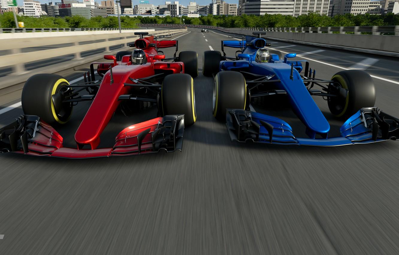 Photo wallpaper Cars, PlayStation 4, Gran Turismo Sport, F1, Tokyo Expressway – East Inner Loop