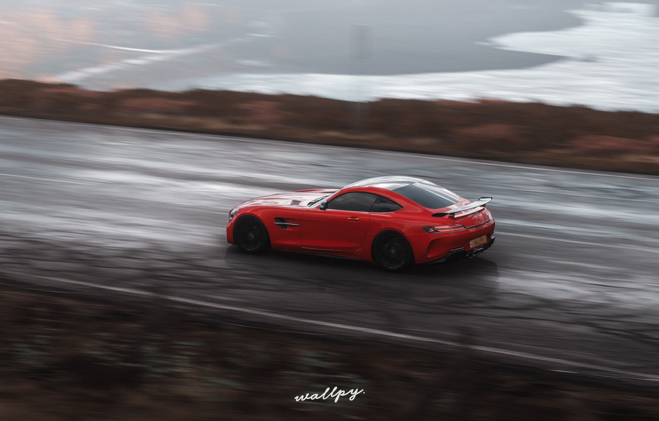 Photo wallpaper Mercedes-Benz, Microsoft, AMG, GT R, Forza Horizon 4, by Wallpy