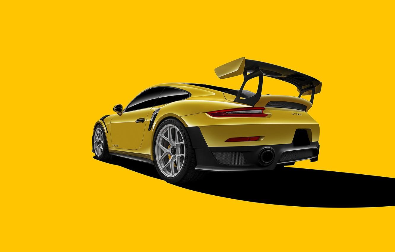Photo wallpaper 911, Porsche, GT2, Yellow, VAG