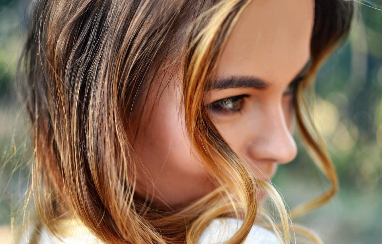 Photo wallpaper girl, blonde, model. hair