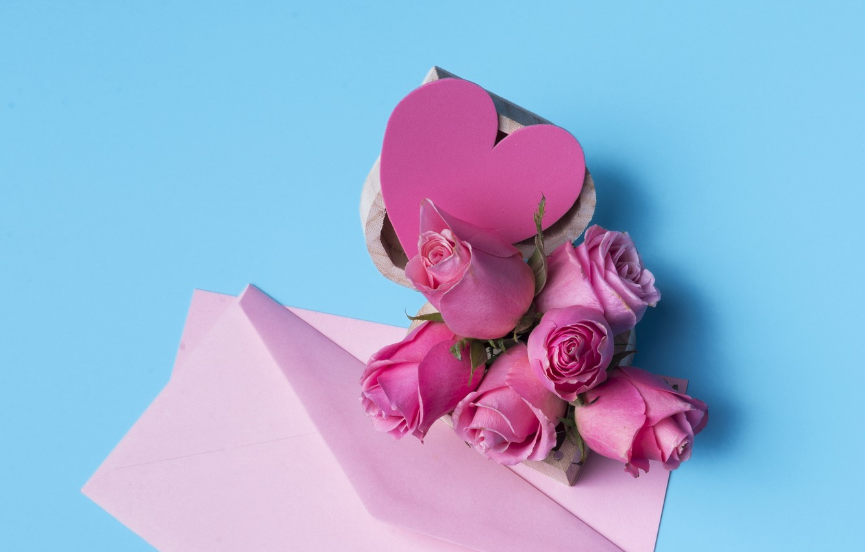 Wallpaper Love Flowers Heart Roses Bouquet Love Pink Heart