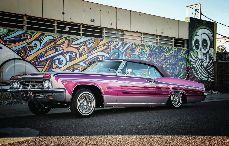 Photo wallpaper Chevrolet, Impala SS, Lowrider, Convertible