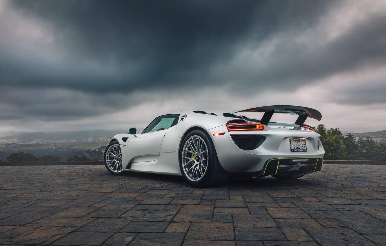 Photo wallpaper white, hypercar, Porsche 918