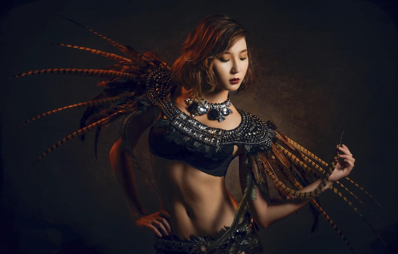 Photo wallpaper girl, style, portrait