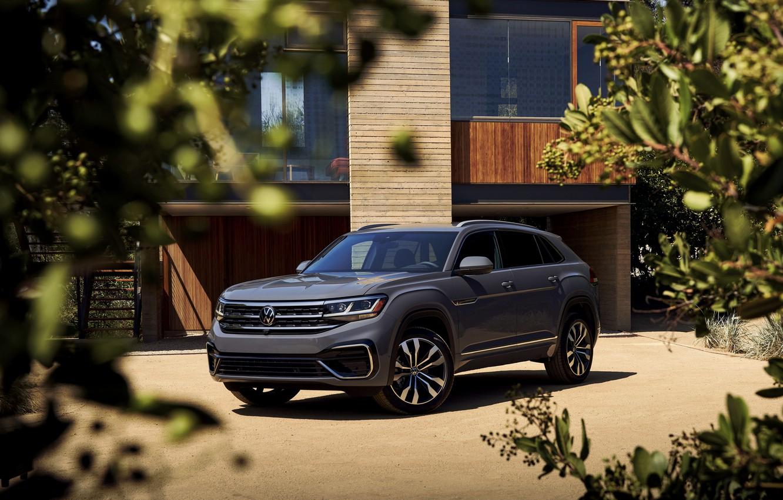 Photo wallpaper grey, Volkswagen, SUV, 2020, Atlas Cross Sport