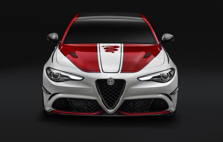 Photo wallpaper Alfa Romeo, Four-leaf clover, Giulia, 2019, Alfa Romeo Racing