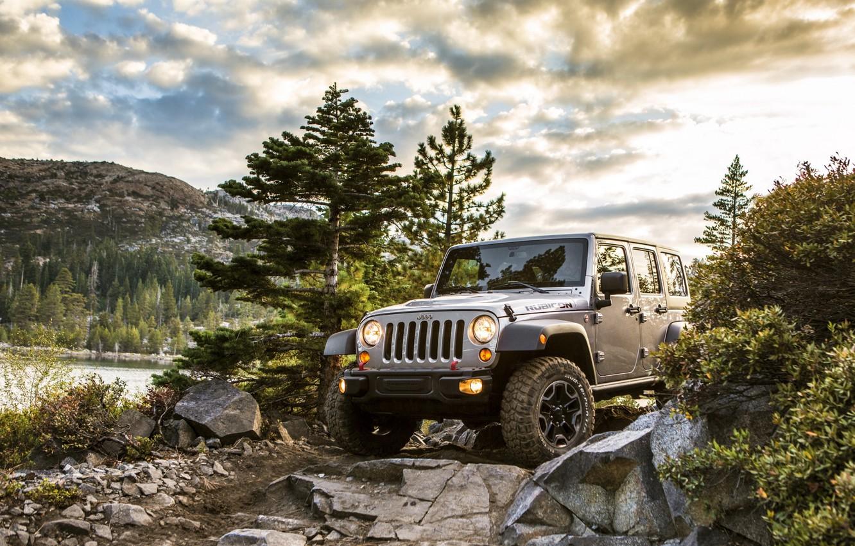 Photo wallpaper Car, Nature, Landscape, Wrangler, Jeep, Unlimited, Rubicon