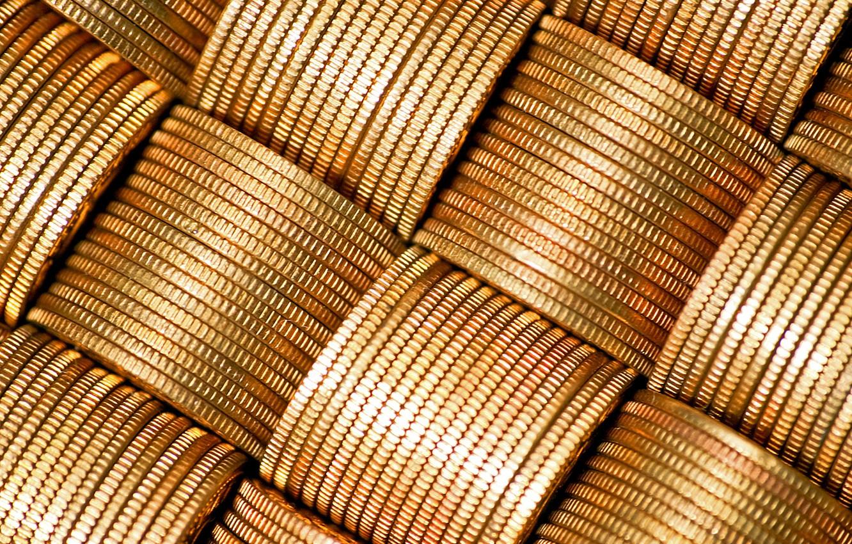 Photo wallpaper gold, money, coins