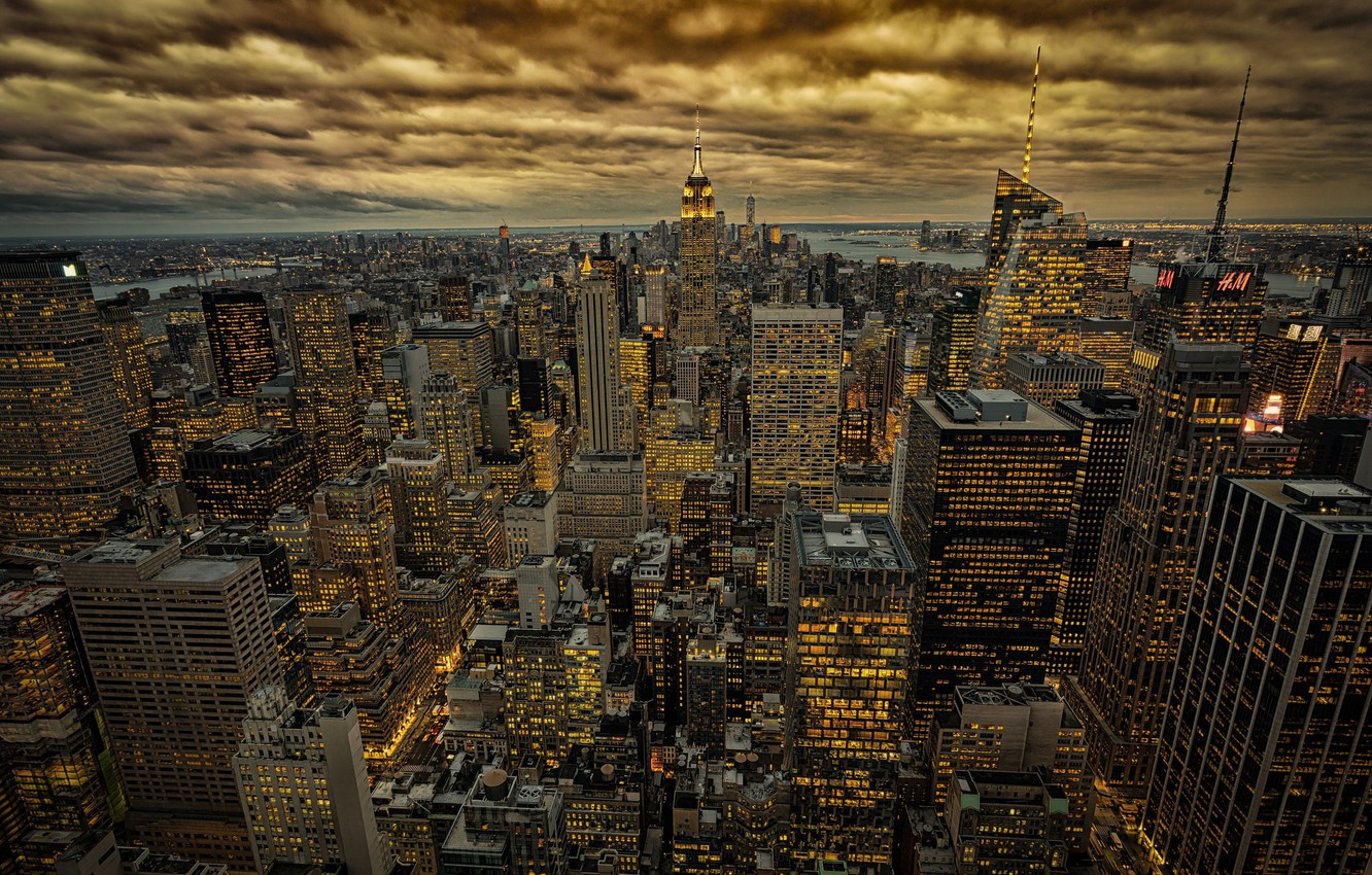 Wallpaper New York Nyc In Gold Images