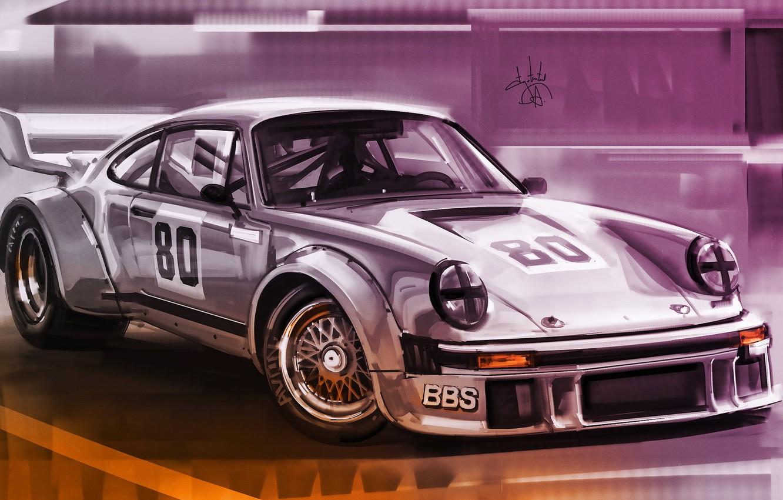 Photo wallpaper Auto, Figure, 911, Porsche, Machine, Art, Porsche 911, Porsche 911 Turbo S, Alexander Sidelnikov, by …
