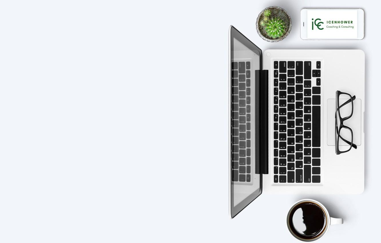 Photo wallpaper notebook, coffee, glasses, cactus, smart phone