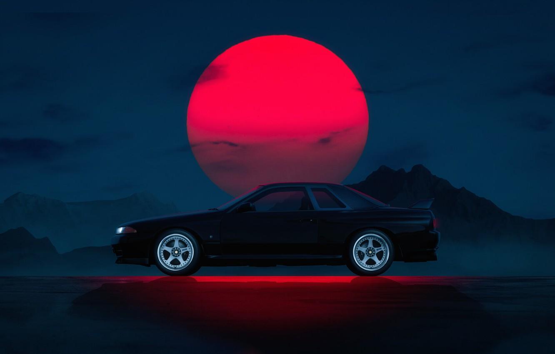 Wallpaper Auto Machine Nissan Car Star Black Sun