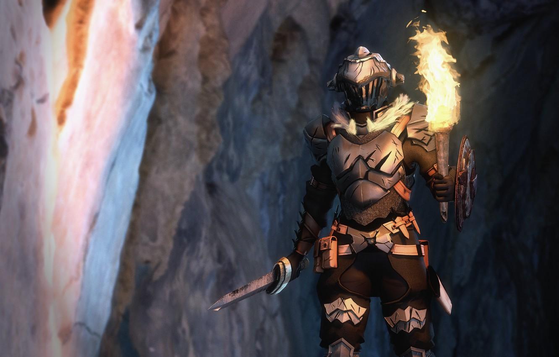 Photo wallpaper sword, knight, Goblin Slayer, The killer of goblins