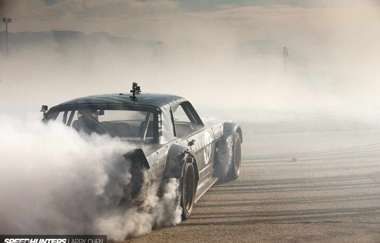 Wallpaper Mustang Ford Drift Car Race Speed Smoke Hoonigan