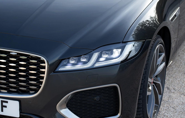 Photo wallpaper Jaguar, headlight, the hood, before, universal, Jaguar XF, 2020, XF, XF Sportbrake