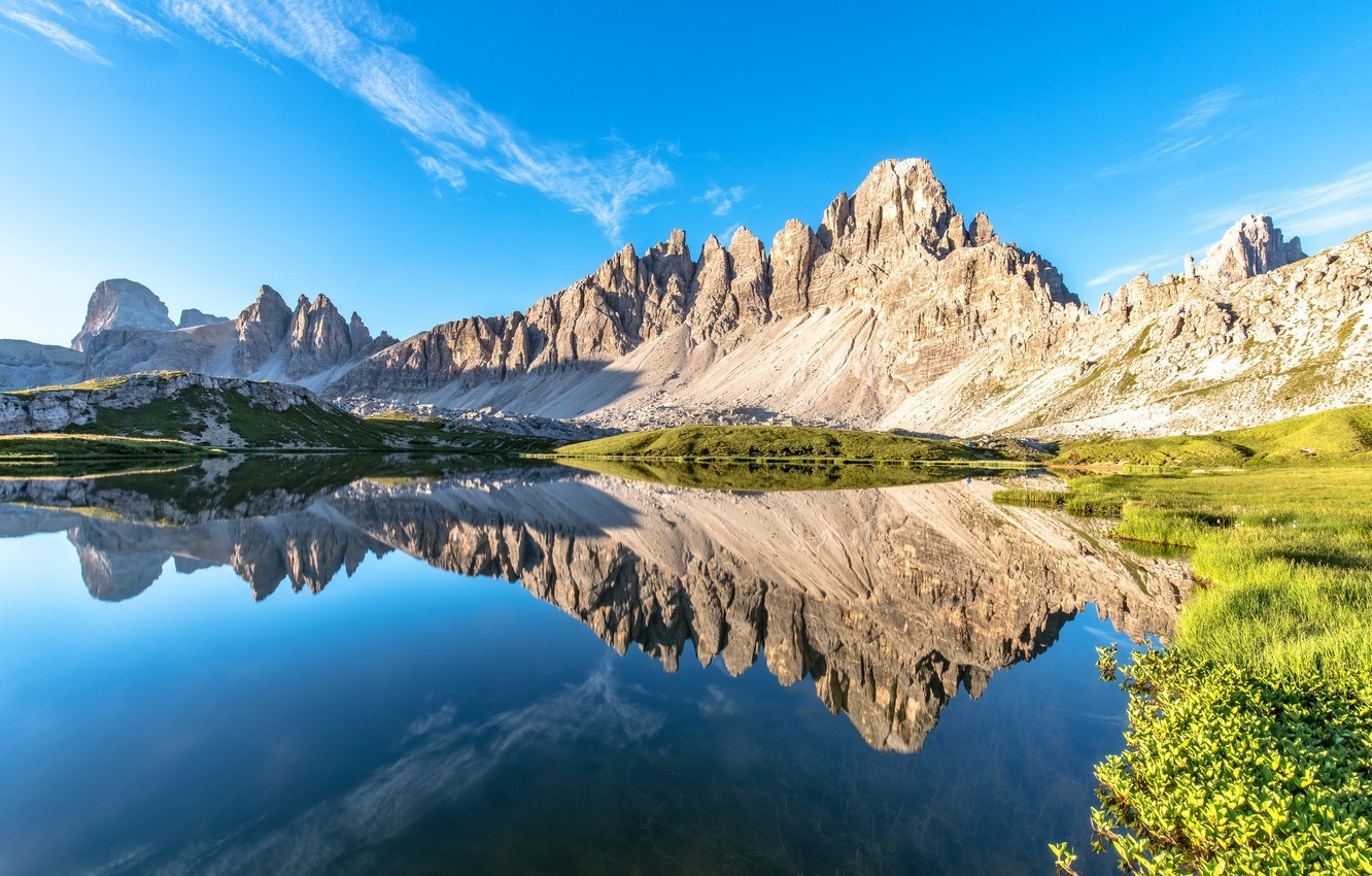 Photo wallpaper summer, mountains, The Dolomites, Dolomite Alps