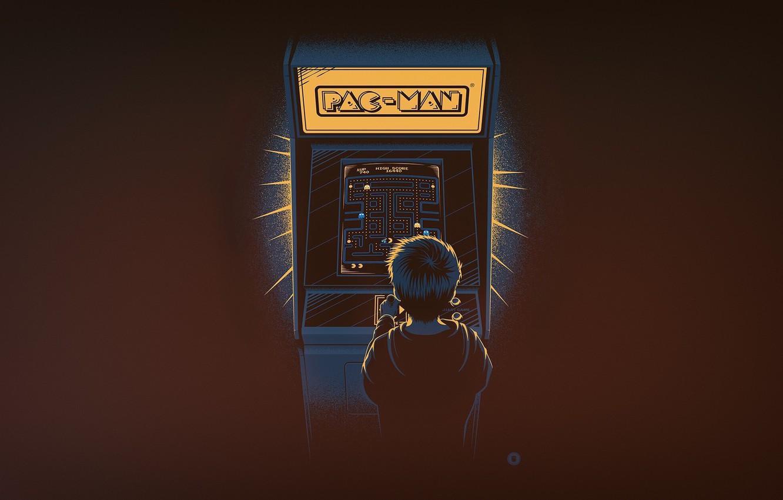 Wallpaper Minimalism Boy The Game Background Pacman Pac