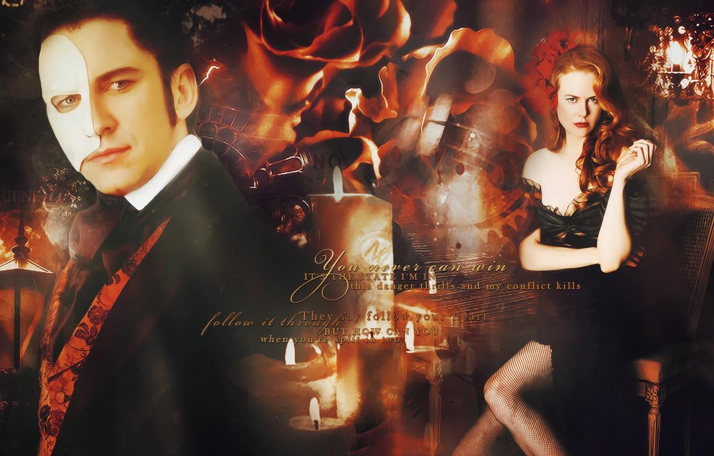 Wallpaper Collage Mask Nicole Kidman Gerard Butler Images