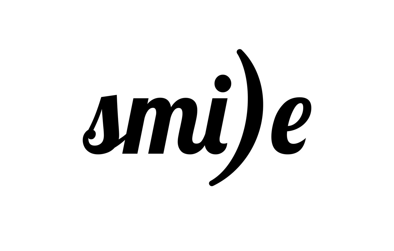 Photo wallpaper letters, smile, the word