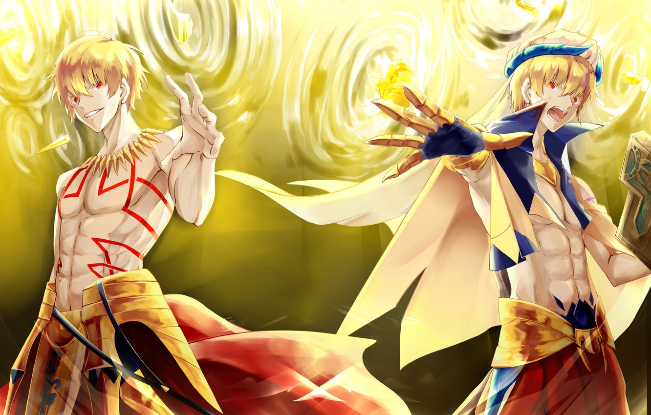 Wallpaper Guy Blonde Gilgamesh Fate Stay Night Golden