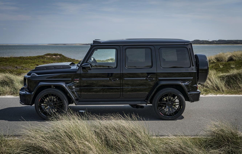 Photo wallpaper black, Mercedes-Benz, SUV, Brabus, AMG, G-Class, in profile, G63, G 63, 2019, W464, Black Ops …