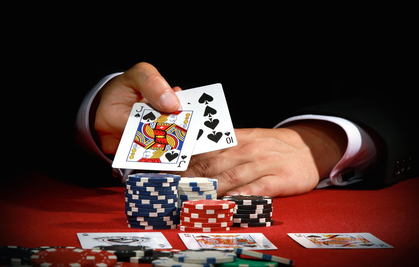 Wallpaper card, the game, chips, casino images for desktop, section игры - download