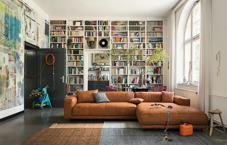 Photo wallpaper furniture, Design, Interior, Books