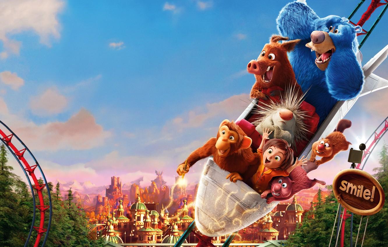 Photo wallpaper Park, animals, cartoon, fantasy, poster, amusement, characters, Wonder Park, Magic Park June