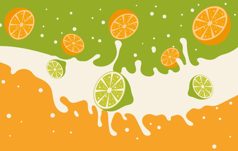 Photo wallpaper background, orange, texture, lime