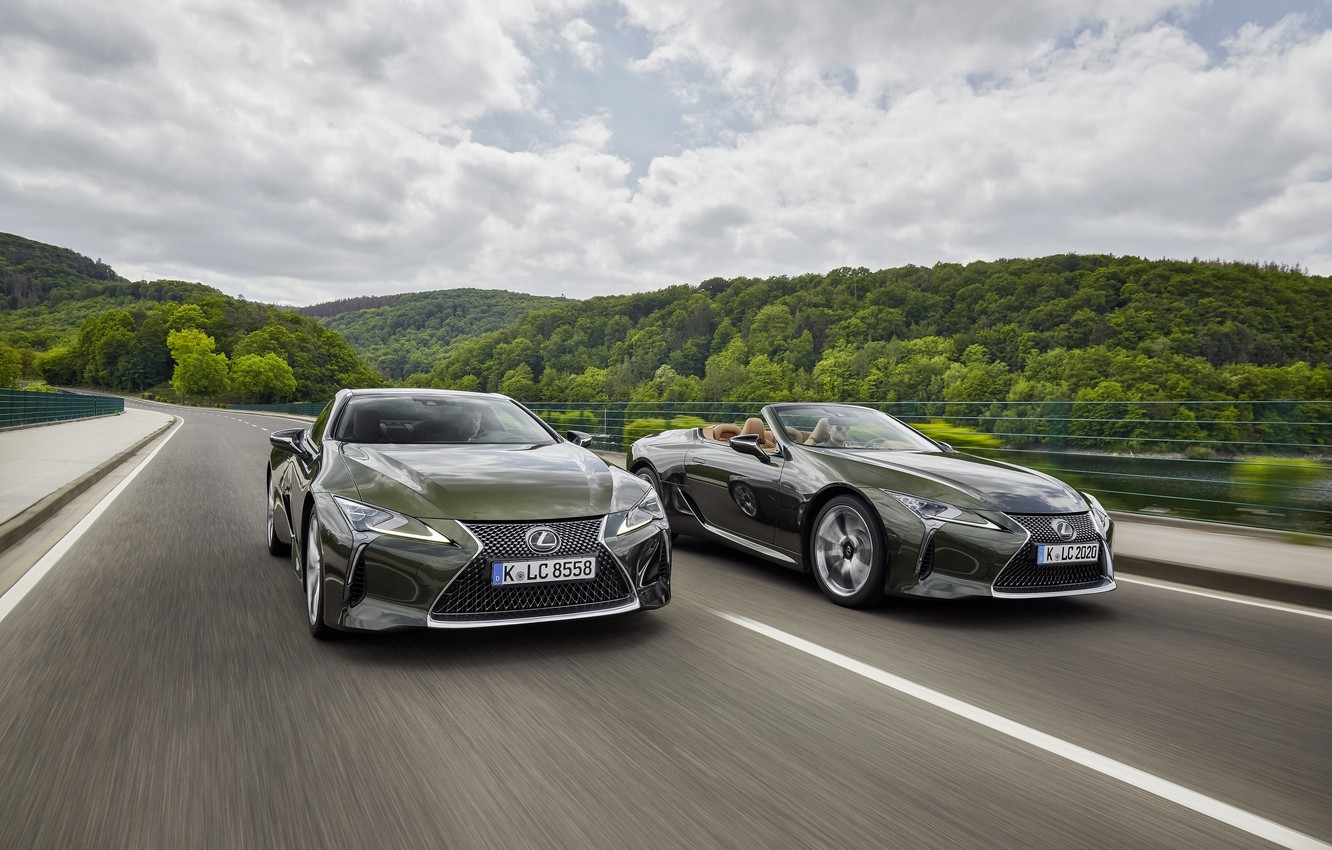 Photo wallpaper coupe, Lexus, convertible, LC 500, Lexus LC, 2021, LC 500 Convertible