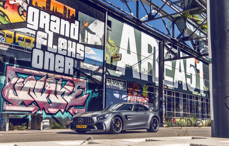 Photo wallpaper GTR, Mercedes, AMG, Graffiti
