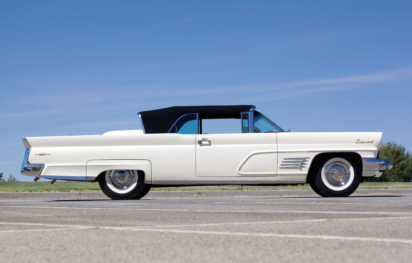 Photo wallpaper 1960, side view, Convertible, Lincoln Continental, Mark V