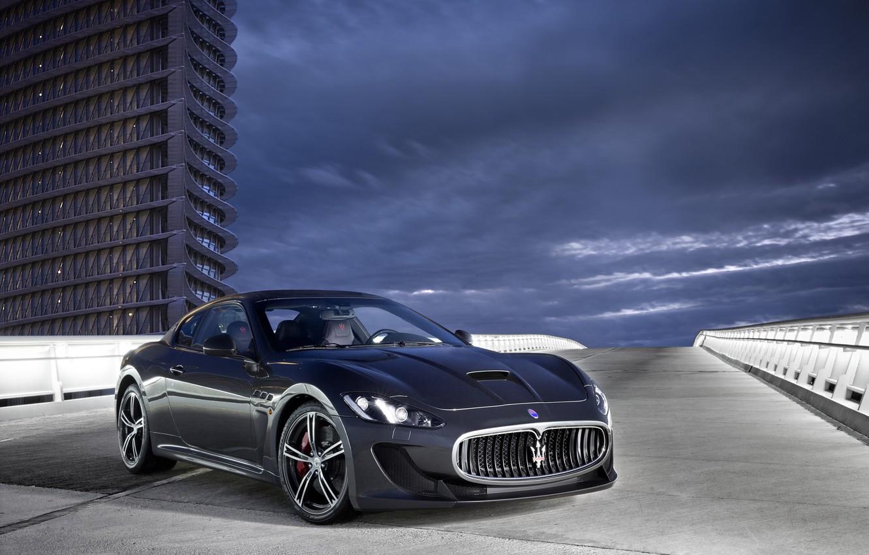 Photo wallpaper road, Maserati, the building, GranTurismo