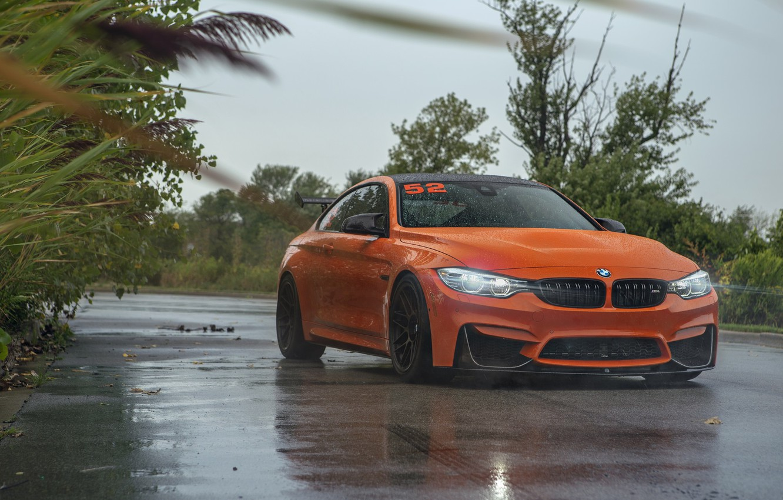 Photo wallpaper BMW, Light, Orange, F82, Sight, Adaptive LED