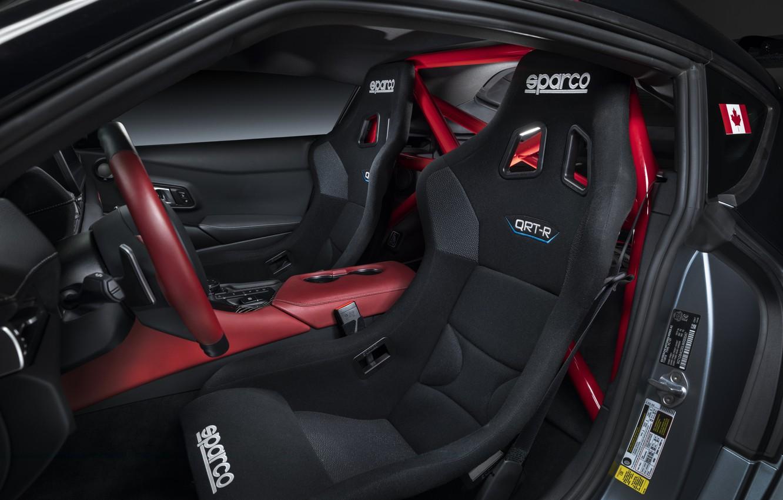 Photo wallpaper grey, background, coupe, interior, Toyota, 2020, GR Supra Track Concept