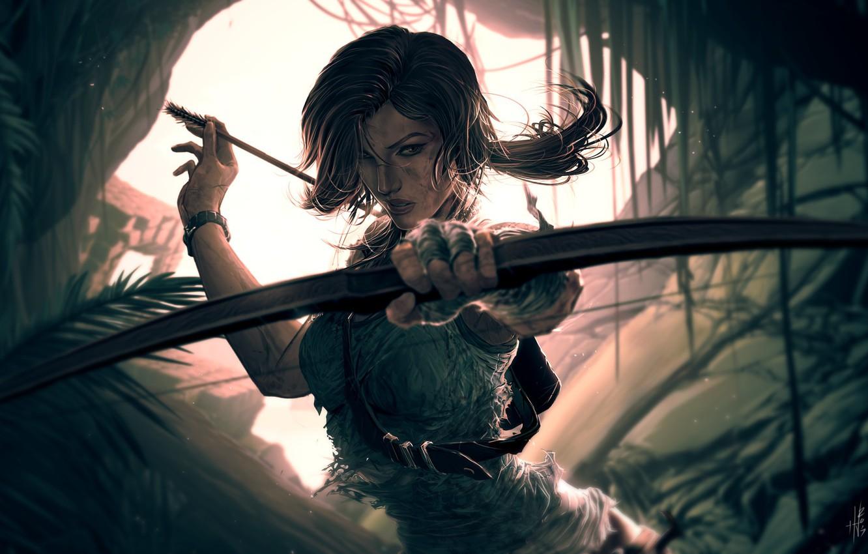 Photo wallpaper Tomb Raider, Lara Croft, Characters, Lara, by Hue Vang, Hue Vang