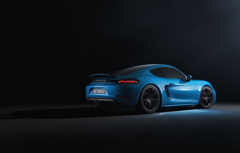 Photo wallpaper Blue, Porsche, Machine, Cayman, Blue, Car, Rendering, Transport & Vehicles, Sergey Poltavskiy, by Sergey Poltavskiy, …