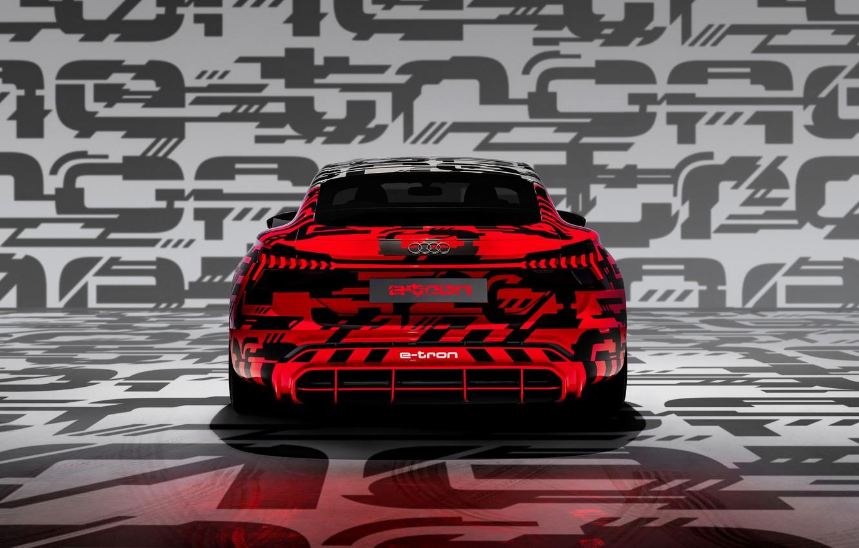 Photo wallpaper Audi, coupe, 2018, feed, e-tron GT Concept, the four-door