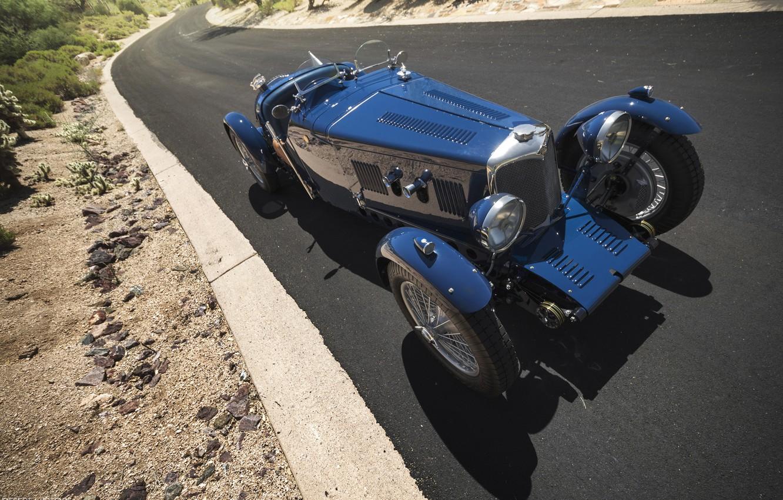 Photo wallpaper Car, Blue, Vintage, Road, 1934, Riler 12-4 Special