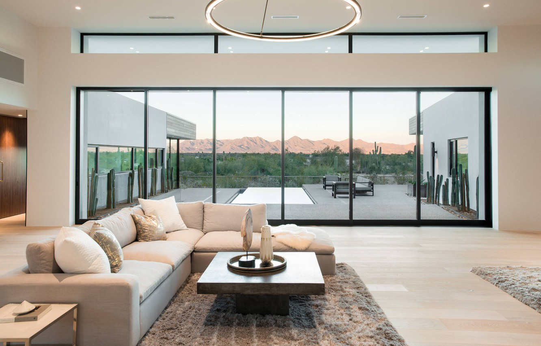 Photo wallpaper Villa, interior, living room, Majestic Mountain Views, by K2 Signature Homes