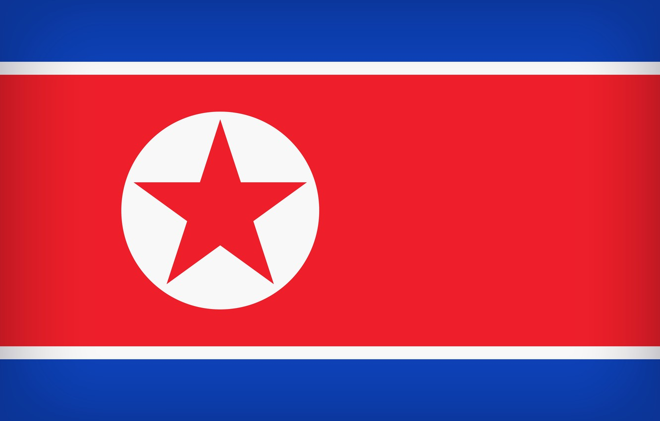 Photo wallpaper Flag, North Korea, Flag Of North Korea, North Korea Large Flag, North Korean Flag